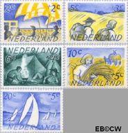 Nederland NL 513#517  1949 Zomermotieven   cent  Gestempeld