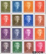Nederland NL 518#533  1949 Koningin Juliana- Type 'En Face'   cent  Postfris