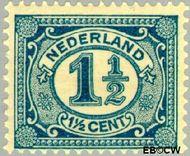 Nederland NL 53  1913 Cijfer type 'Vürtheim' 1½ cent  Gestempeld