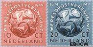Nederland NL 542#543  1949 U.P.U.   cent  Gestempeld