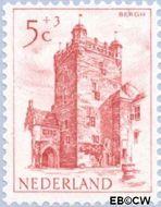 Nederland NL 569  1951 Kastelen 5+3 cent  Gestempeld
