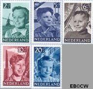 Nederland NL 573#577  1951 Foto's van kinderen   cent  Gestempeld