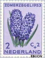Nederland NL 602  1953 Bloemen 2+2 cent  Gestempeld