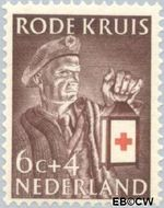 Nederland NL 608  1953 Rode Kruis 6+4 cent  Postfris