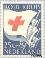 Nederland NL 611  1953 Rode Kruis 25+8 cent  Gestempeld