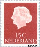 Nederland NL 619  1953 Koningin Juliana- Type 'En Profile' 15 cent  Gestempeld