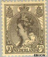Nederland NL 62  1899 Koningin Wilhelmina- 'Bontkraag' 10 cent  Gestempeld