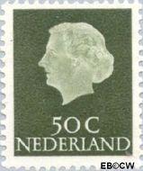 Nederland NL 629  1953 Koningin Juliana- Type 'En Profile' 50 cent  Gestempeld