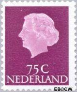Nederland NL 633b  1971 Koningin Juliana- Type 'En Profile' 75 cent  Gestempeld