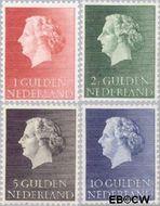 Nederland NL 637#640  1953 Koningin Juliana- Type 'En Profile'   cent  Postfris