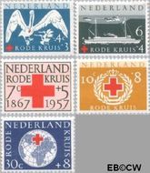 Nederland NL 695#699  1957 Rode Kruis   cent  Gestempeld