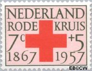 Nederland NL 697  1957 Rode Kruis 7+5 cent  Postfris
