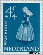 Nederland NL 707  1958 Klederdrachten 4+4 cent  Gestempeld
