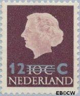 Nederland NL 712#  1958 Koningin Juliana- Opruimingsuitgifte 12#10 cent  Postfris