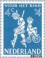 Nederland NL 715  1958 Kinderspel 4+4 cent  Gestempeld