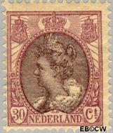 Nederland NL 72  1917 Koningin Wilhelmina- 'Bontkraag' 30 cent  Gestempeld