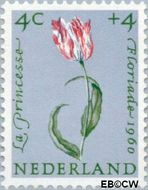 Nederland NL 738  1960 Bloemen 4+4 cent  Gestempeld