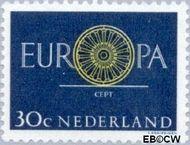 Nederland NL 746  1960 C.E.P.T.- Spaakwiel 30 cent  Gestempeld
