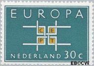 Nederland NL 801  1963 C.E.P.T.- Vierkant 30 cent  Gestempeld