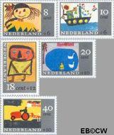 Nederland NL 849#853  1965 Kindertekeningen  cent  Gestempeld