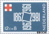Nederland NL 889  1967 Rode Kruis 12+8 cent  Gestempeld