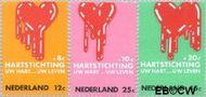 Nederland NL 975#977  1970 Hartstichting  cent  Gestempeld