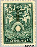Nederland NL BK1  1921 Vervoer in drijvende brandkast 15 cent  Gestempeld