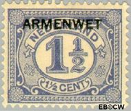 Nederland NL D2  1913 Armenwet 1½ cent  Gestempeld