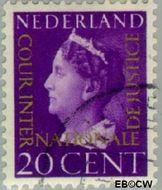 Nederland NL D23  1947 Cour Internationale de Justice 20 cent  Gestempeld