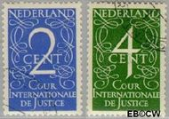 Nederland NL D25#D26  1950 Cour Internationale de Justice  cent  Gestempeld