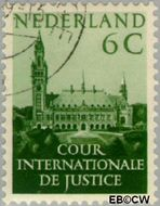 Nederland NL D31  1951 Cour Internationale de Justice 6 cent  Gestempeld