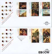Nederland NL E404  1999 Nederlandse kunst 17e eeuw  cent  FDC zonder adres