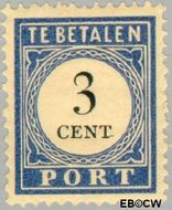 Nederland NL P17  1910 Portzegel 3 cent  Gestempeld