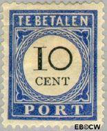 Nederland NL P22  1894 Portzegel 10 cent  Gestempeld