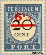 Nederland NL P30  1906 Portzegel 6½ op 20 cent  Gestempeld