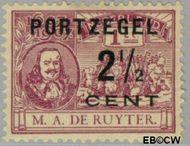 Nederland NL P34  1907 Portzegel 2½ op 1 cent  Gestempeld