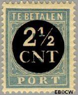 Nederland NL P62  1923 Portzegel 2½ op 7 cent  Gestempeld