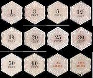 Nederland NL TG1#TG12  1877 Betaling telegraaf  cent  Gestempeld