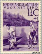 Nederlandse Antillen NA 234  1951 Kinderspelen  1½+1 cent  Gestempeld
