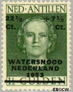 Nederlandse Antillen NA 244  1953 Watersnood  22½+ 7½ cent  Gestempeld