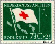 Nederlandse Antillen NA 294  1958 Rode Kruis en Ned. Antillen  7½+2½ cent  Gestempeld