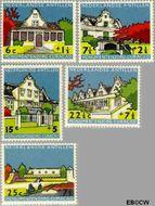 Nederlandse Antillen NA 298#302  1959 Monumentenzorg  cent  Gestempeld