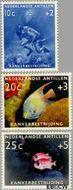 Nederlandse Antillen NA 315#317  1960 Kankerbestrijding  cent  Gestempeld