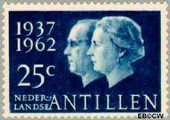 Nederlandse Antillen NA 324  1962 Huwelijksjubileum Juliana en Bernhard 25 cent  Gestempeld