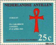 Nederlandse Antillen NA 335  1963 Caraïbisch congres 25 cent  Gestempeld