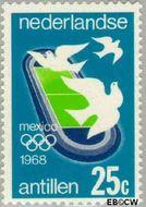 Nederlandse Antillen NA 395  1968 Olympische Spelen- Mexico 20 cent  Gestempeld