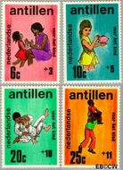 Nederlandse Antillen NA 430#433  1970 Activiteiten kinderen  cent  Postfris