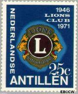 Nederlandse Antillen NA 435  1971 Lions Club 25 cent  Gestempeld