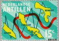 Nederlandse Antillen NA 475  1973 Nieuwe telefoonkabel 15 cent  Gestempeld