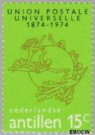 Nederlandse Antillen NA 495  1974 Wereldpostvereniging 15 cent  Gestempeld